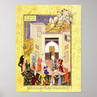 Persische Miniatur: Yusuf und Zulaykhas Mädchen Poster