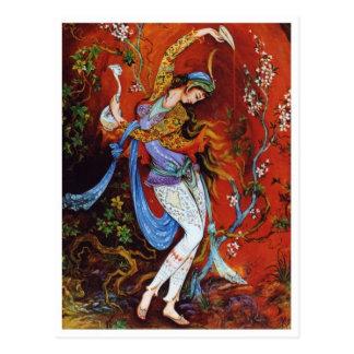 Persische Miniaturmalereipostkarte Postkarte