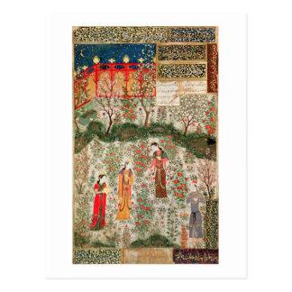 Persischer Garten, 15. Jahrhundert (w/c auf Postkarten