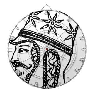Persischer königlicher Kopfschmuck Dartscheibe