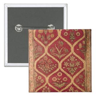 Persischer oder türkischer Teppich, 16./17. Jahrhu Quadratischer Button 5,1 Cm