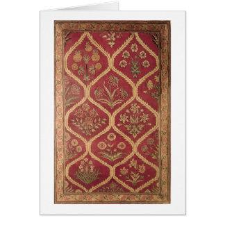 Persischer oder türkischer Teppich, 16./17. Jahrhu Grußkarte