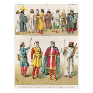 """Persisches Kleid, von """"Trachten der Voelker"""", 1864 Postkarte"""
