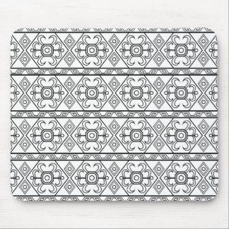 Persisches Muster auf weißem Hintergrund Mauspads