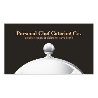 Personal Chef Catering Company Cloche elegant Visitenkarten