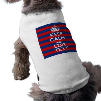 Personalisiert BEHALTEN Sie RUHE Ihr Text auf Shirt