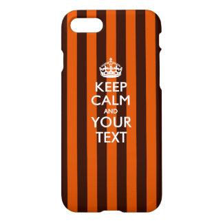 Personalisiert BEHALTEN Sie RUHE UND Ihren Text iPhone 8/7 Hülle