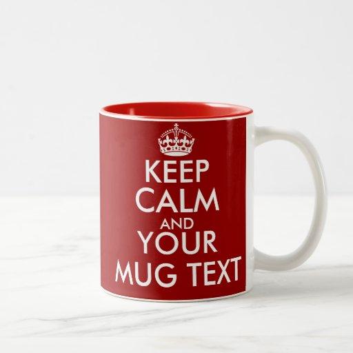 Personalisiert behalten Sie ruhige Tassen mit kund