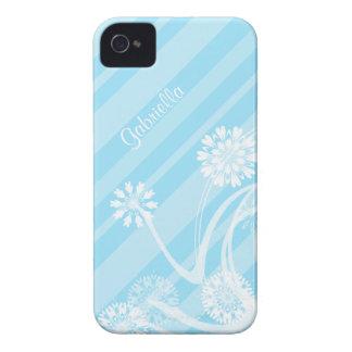 Personalisiert: Blaues Frühlings-Glück iPhone 4 Case-Mate Hülle