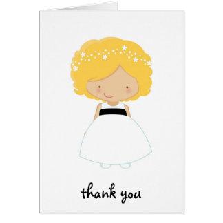 Personalisiert danke für Sein unser Blumen-Mädchen Grußkarte