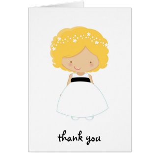 Personalisiert danke für Sein unser Blumen-Mädchen Karte