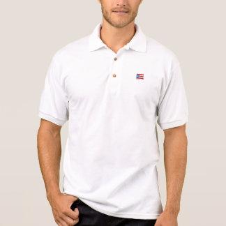 Personalisiert, Flagge von Puerto Rico Polo Shirt