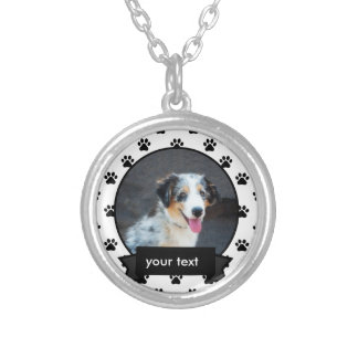 Personalisiert Ihre Haustier-Hundehalskette Versilberte Kette