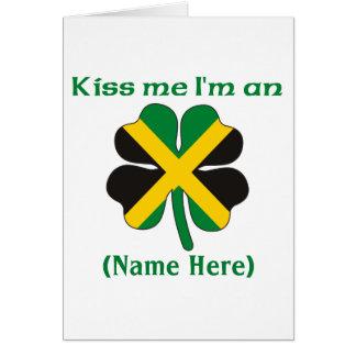 Personalisiert küssen Sie mich, den ich Karte