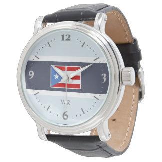 Personalisiert: Puerto- Ricoflagge Armbanduhr