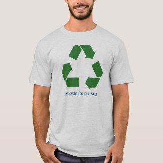 Personalisiert recyceln Sie T-Stück T-Shirt
