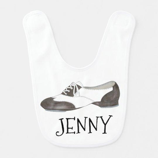Personalisiert stechen Sie Tanz-Schuh-zukünftiges Lätzchen