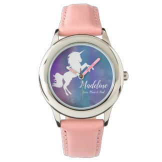 Personalisiert, Unicorn, Name, vom Armbanduhr