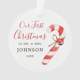 Personalisiert unser erster Weihnachtsherr Frau Ornament