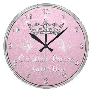 Personalisiert unsere kleine Prinzessin Clock, Große Wanduhr