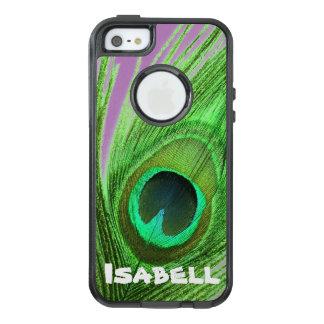 Personalisiert wählen Sie Hintergrund-grünes OtterBox iPhone 5/5s/SE Hülle