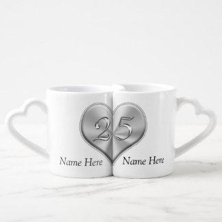 Personalisierte 25. Hochzeits-Jahrestags-Geschenke Liebestassen