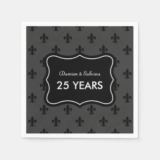 Personalisierte 25. Jahrestags-Partyservietten Papierservietten