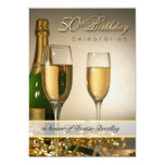 Personalisierte 50. Geburtstags-Party Einladungen
