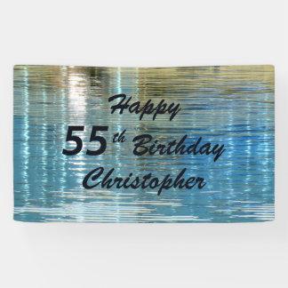 Personalisierte 55. Geburtstags-Zeichen-Reflexion Banner