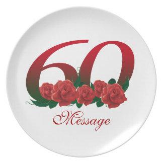 Personalisierte 60. Platte Melaminteller