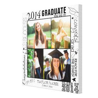 Personalisierte Abschluss-Foto-Collage 2014 Gespannter Galeriedruck