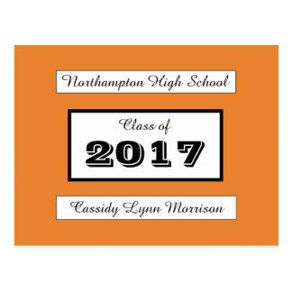 Personalisierte Abschluss-/Wiedersehen-Postkarte Postkarte