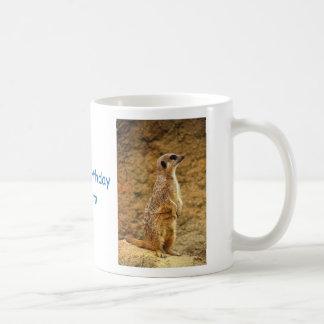 Personalisierte alles Gute zum Geburtstag Meerkat Kaffeetasse