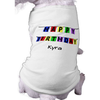 Personalisierte alles- Gute zum Geburtstagfahne Hundeshirts