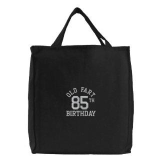 Personalisierte alte Furz gestickte Taschen-Tasche Bestickte Einkaufstaschen