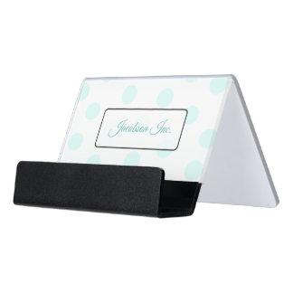 Personalisierte aquamarine Schreibtisch-Visitenkartenhalter
