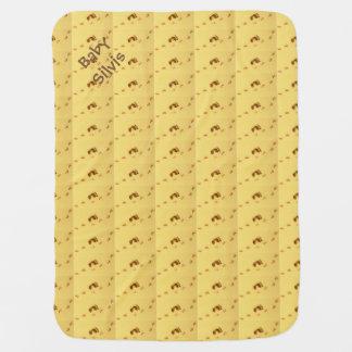 Personalisierte Baby-Abdruck-Decke Puckdecke