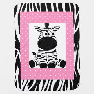 Personalisierte Baby-Decken-/Zebra-und Kinderwagendecke