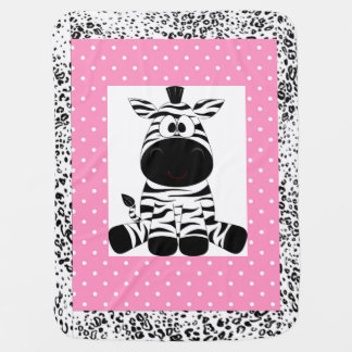 Personalisierte Baby-Decken-/Zebra-und Puckdecke