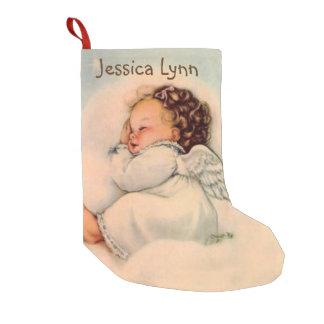 Personalisierte Baby-Engels-Flügel, die in der Kleiner Weihnachtsstrumpf