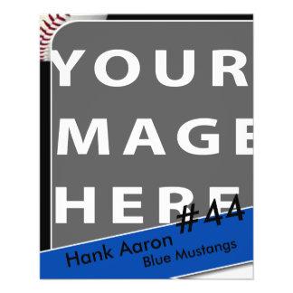 Personalisierte Baseball-Foto-Karte Flyer