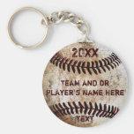 PERSONALISIERTE Baseball-Geschenke für Spieler, Standard Runder Schlüsselanhänger