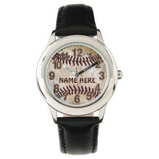 Personalisierte Baseball-Uhren für Kinder Uhr