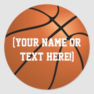 Personalisierte Basketball-Kreisaufkleber Runder Aufkleber