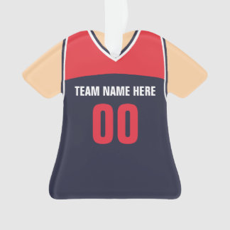 Personalisierte Basketball-Team-rote blaue Ornament