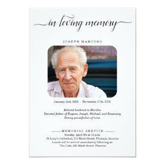 Personalisierte Begräbnis- Mitteilung mit Foto Karte