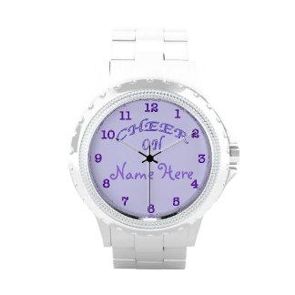 PERSONALISIERTE Beifall-Geschenk-Ideen-lila Uhren