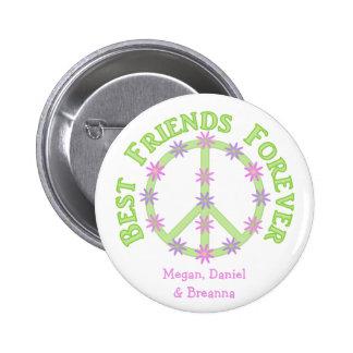Personalisierte beste Freunde knöpfen für immer Runder Button 5,7 Cm