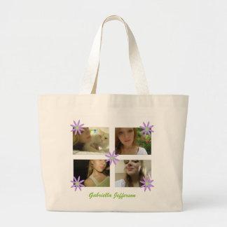Personalisierte Bild-Collagen-Taschen-Tasche Jumbo Stoffbeutel