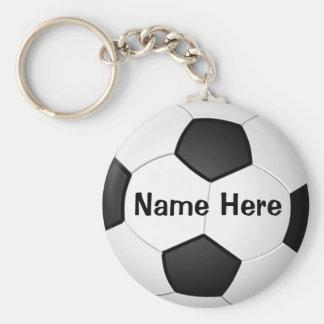 Personalisierte billige Fußball-Geschenke für Standard Runder Schlüsselanhänger
